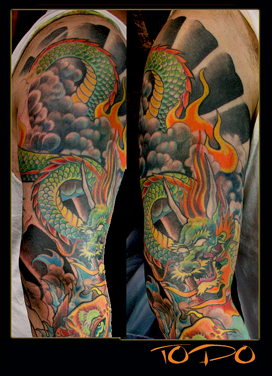 sleeves tattoos. japanese dragon tattoos