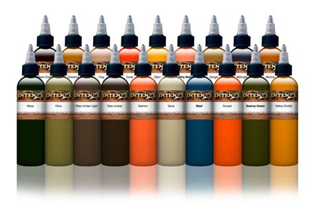 Earth Tones Color Tattoo Ink Set Kuro Sumi Cherry ink set 3 x 6oz bottles
