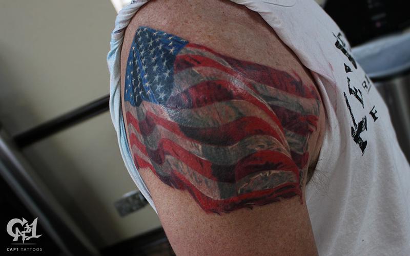 Cap1 tattoos tattoos capone american flag tattoo for Texas flag tattoo