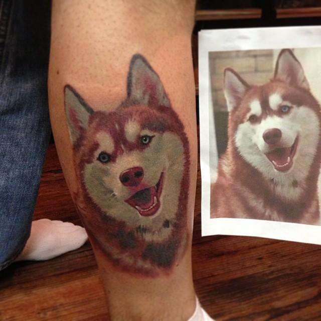 cap1 tattoos tattoos francisco sanchez siberian husky portrait. Black Bedroom Furniture Sets. Home Design Ideas