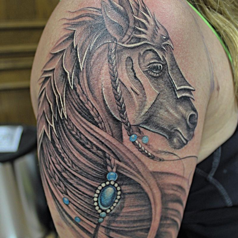5bff0612c Feminine Gladiator Horse by Capone : Tattoos