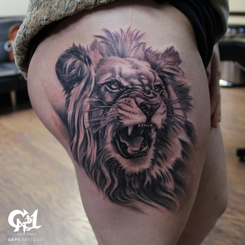 348be00e2 Cap1 Tattoos : Tattoos : Capone : Realistic Lion Tattoo