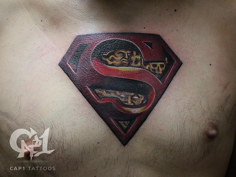 Cap1 Tattoos : Tattoos : Capone : Superman