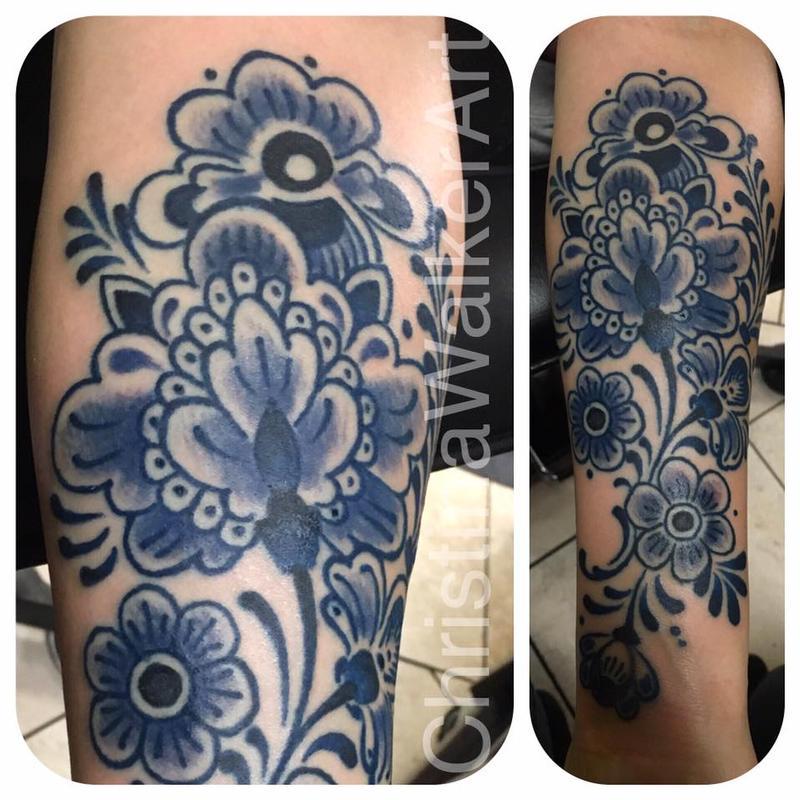 Lucky Bamboo Tattoo Tattoos Feminine Delft Pottery