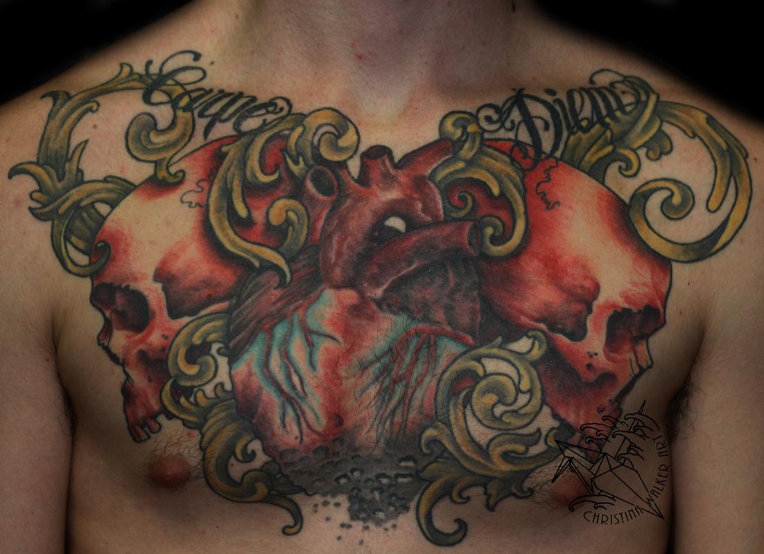 Lucky Bamboo Tattoo : Tattoos : Body Part Chest Tattoos