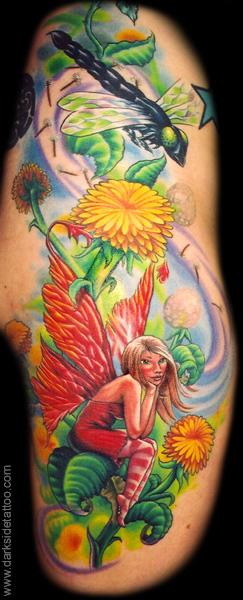 dandelion tattoos. Nick Baxter - Dandelion Fairy