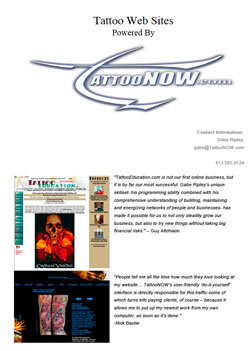 TattooNOw Websites