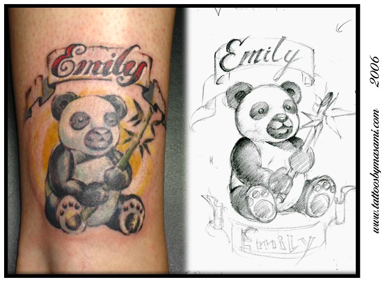 panda bear tattoos. Masami - panda bear