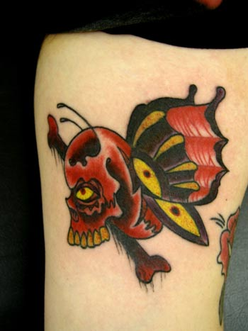sailor jerry skull butterfly  Looking for unique Butterfly