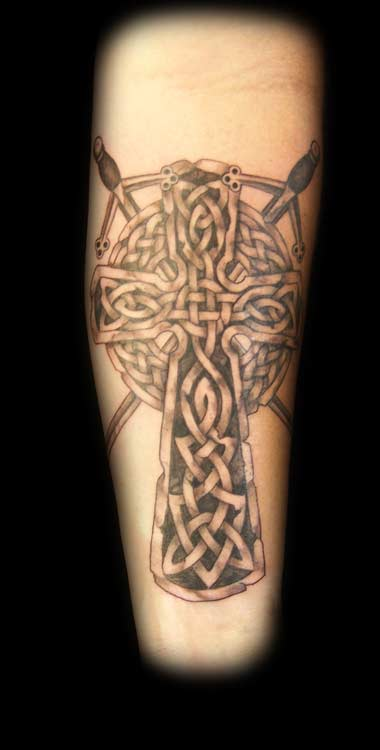 Angie Leaf Celtic Cross Tattoo Large Image Leave Comment