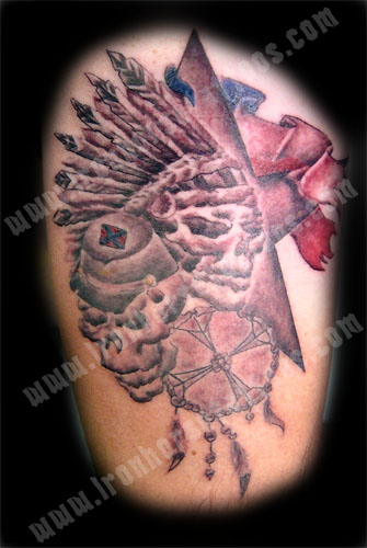 Brett Native American Tattoo Biagio. This design was created for my client