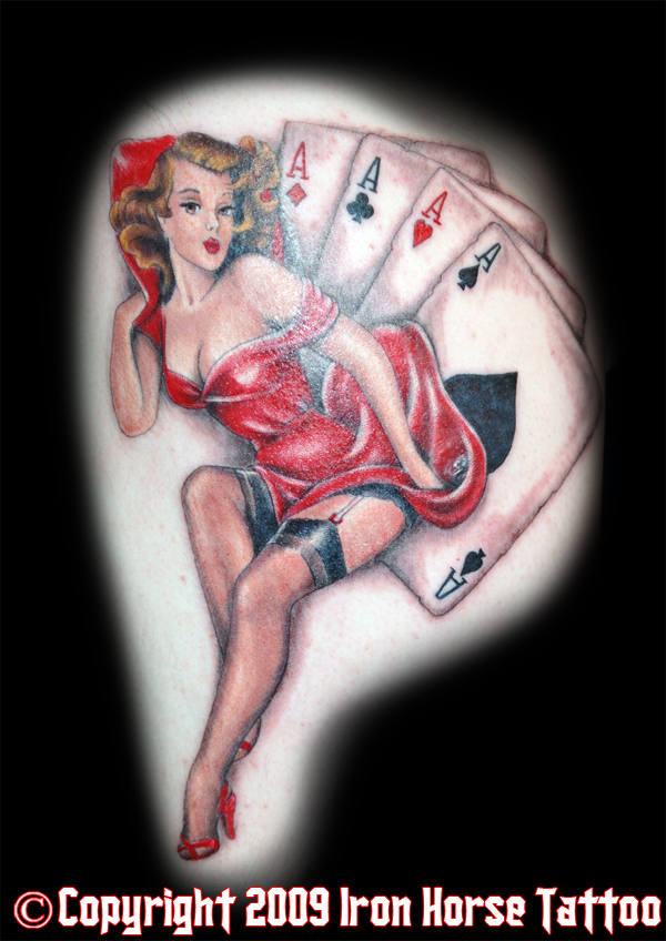(Four Aces Pinup : Tattoos :). pin up style tattoos