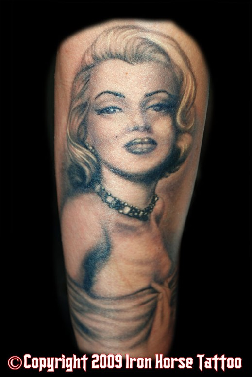 marilyn monroe tattoos. Marilyn Monroe Portrait