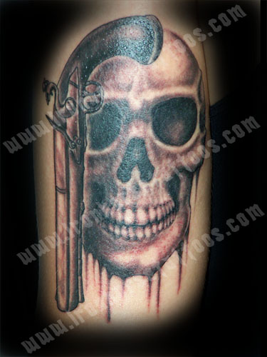 4) Murray the Evil Talking Skull Tattoo Looking a Bit Peaked