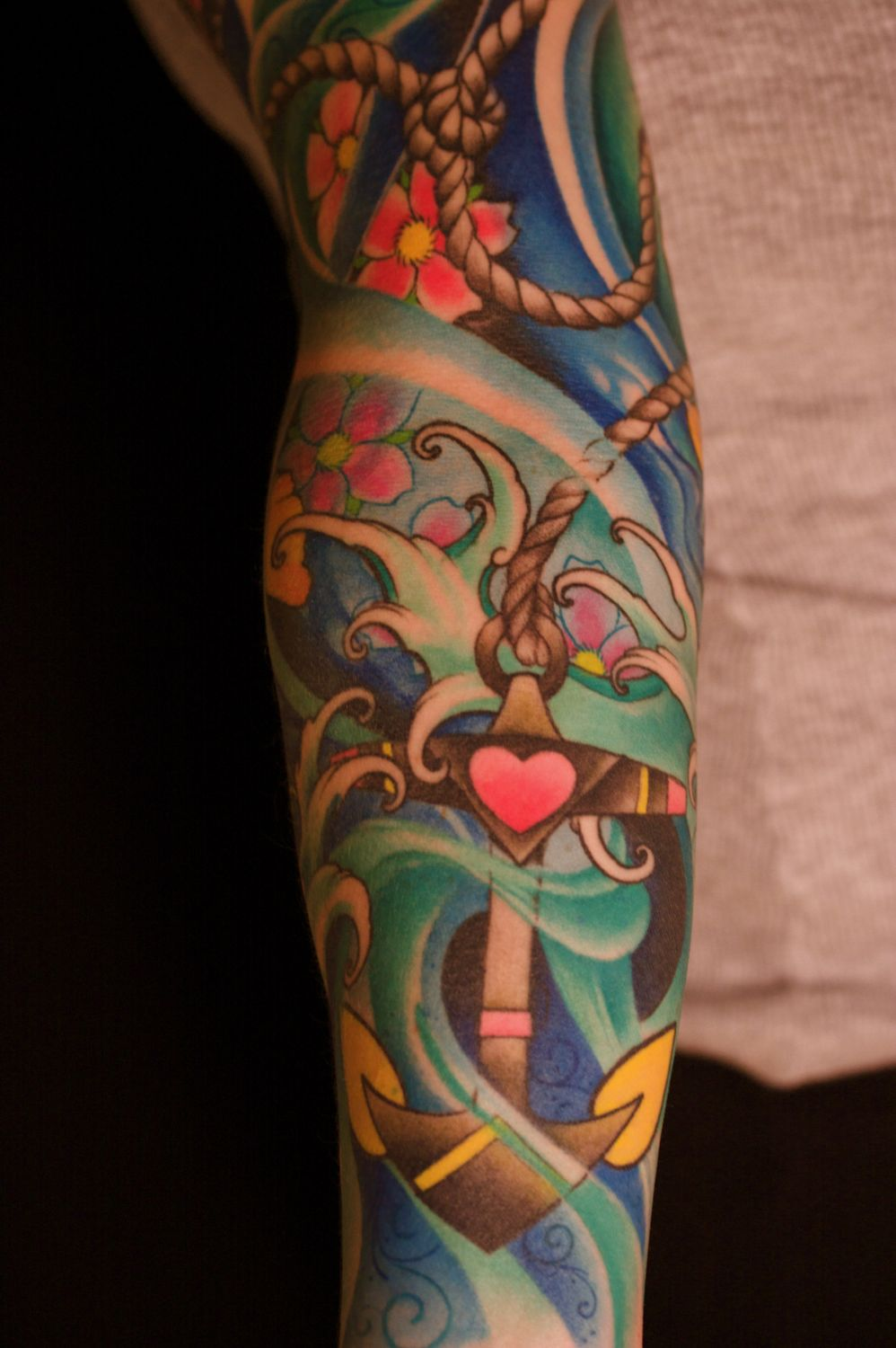 Full Color Sleeve Tattoo: Leave Comment