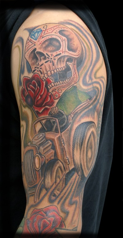 Large image leave comment for Hot rod tattoos