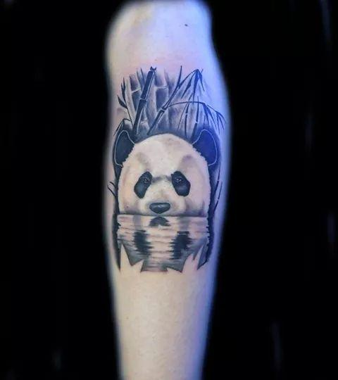 Lucky Bamboo Tattoo Tattoos Animal Realistic Panda In Water