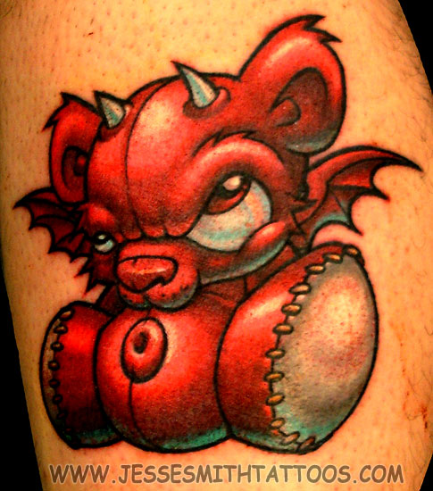 cartoon devil tattoos. Jesse Smith - Devil Teddy Bear