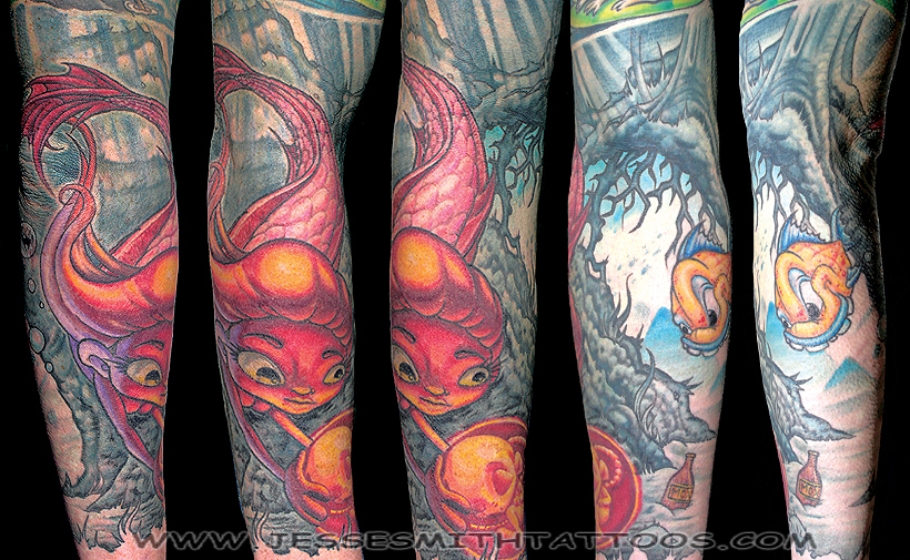 Keyword Galleries: Color Tattoos, New School Tattoos, Oddities Tattoos,