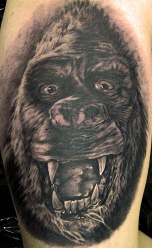 King Kong By Pepper Tattoos