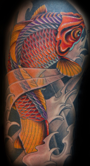 Koi Fish Tattoo Quarter Sleeves Koi Fish Tattoo Quarter Sleeves