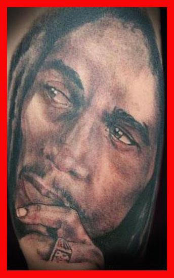 Comments: A Bob Marley Portrait Tattoo by Darrin White.