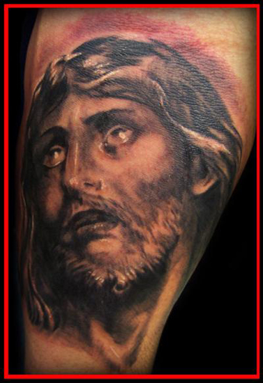 Jesus Face Tattoos. image - jesus face tattoo