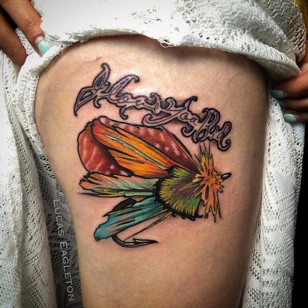 Fly fishing lure tattoos