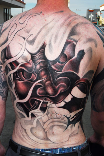 hannya mask tattoo. mask tattoo hannya mask