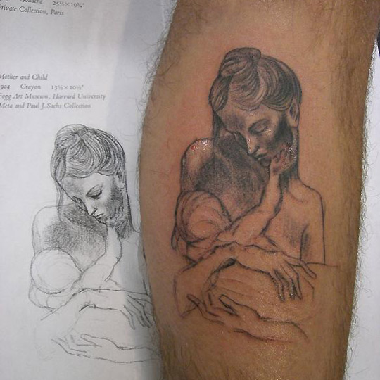 (Mother and Child : Tattoos :). tattoos of children