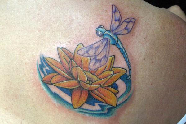 Lotus Flower Tattoo With Dragonfly: Dragonfly With Lotus : Tattoos