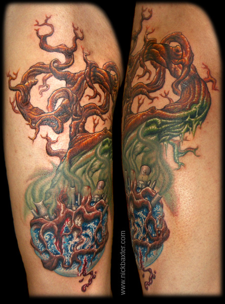 Earth Tree by Nick Baxter : Tattoos