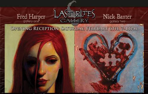 nick baxter, last rites gallery, art opening