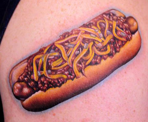 Nikko Chili dog tattoo