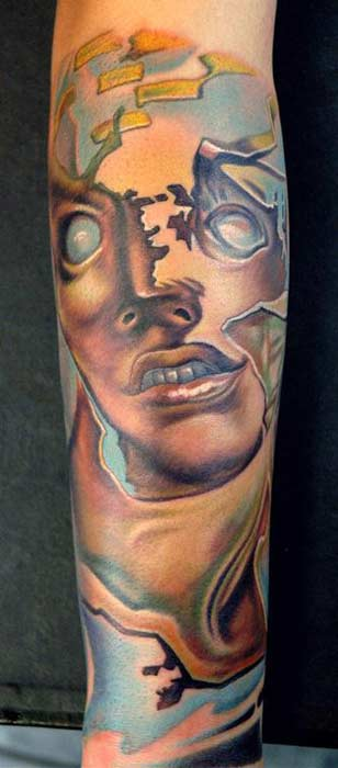 salvador dali tattoo. salvador dali tattoos.