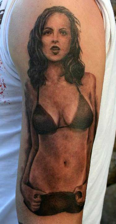 girls with pin up tattoos. Pin Up Tattoos,