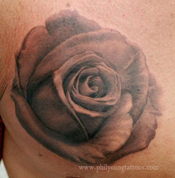 Phil young hope gallery tattoos realistic black and grey phil young black and grey rose tattoo urmus Choice Image
