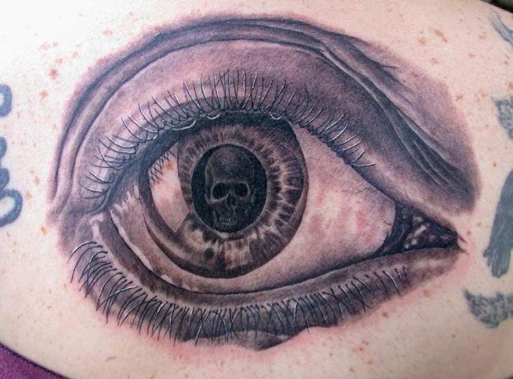 has just inflicted himself the pain of having an eyeball tattoo – see my