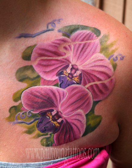 orchids tattoos. Phil Young - Orchids