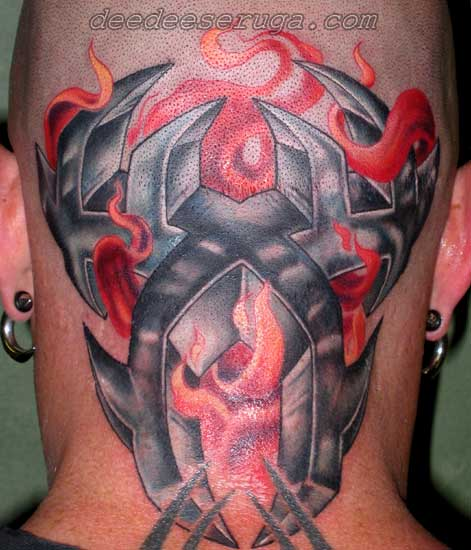Size:388x257 - 22k: Tribal Flames Tattoo
