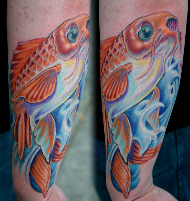 japanese fish tattoo. Tattoo Andy - Koi Fish Tattoo