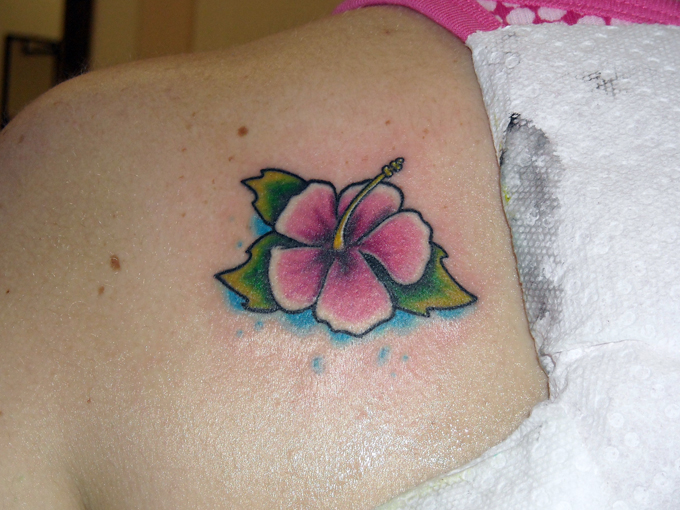 Small hibiscus flowers tattoos designs for Small flower designs