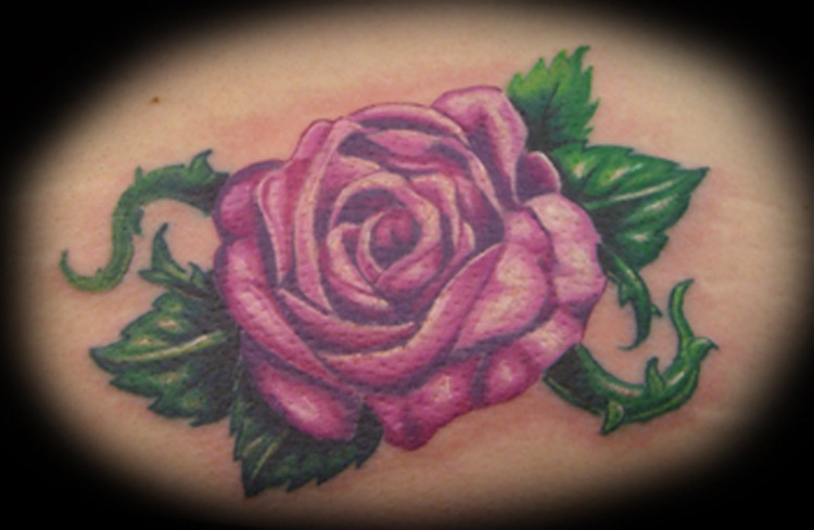 Tattoos realistic tattoos rose on back now viewing image 13 of 47
