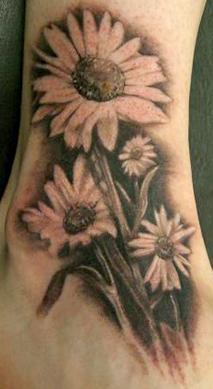 Keyword Galleries: Black and Gray Tattoos, Femine Tattoos, Flower Tattoos,