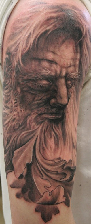 Comments: Start to a father time sleeve. 5 hrs. Tattoos