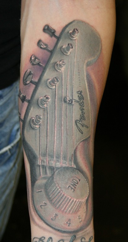 Keyword Galleries: Color Tattoos, Black and Gray Tattoos, Music Tattoos,