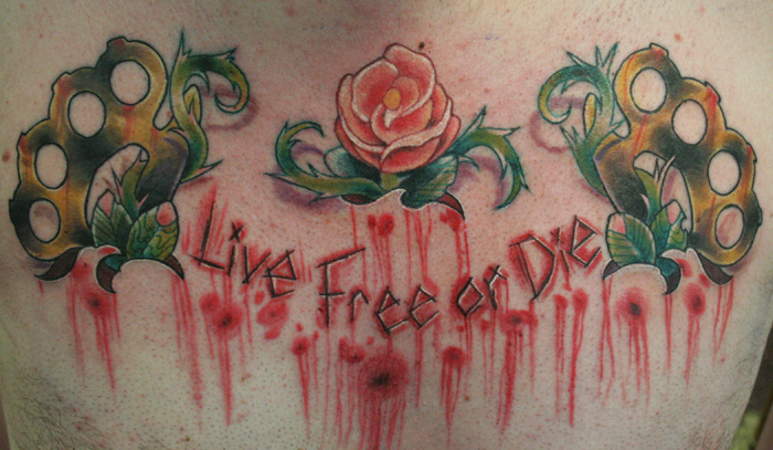 Tattoos. Tattoos Traditional American. live free or die