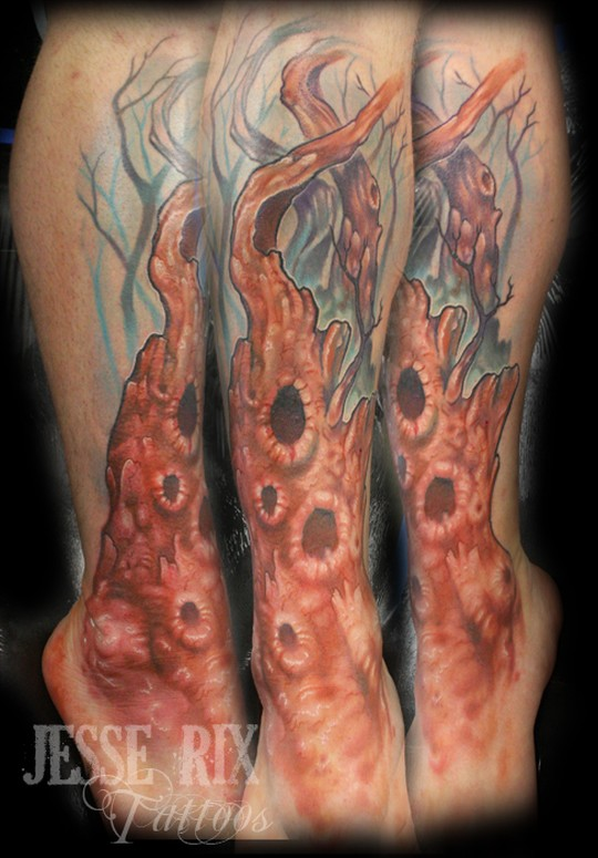 Comments: Old Tree on shin. Tattoos · Page 1. Old Dead Tree