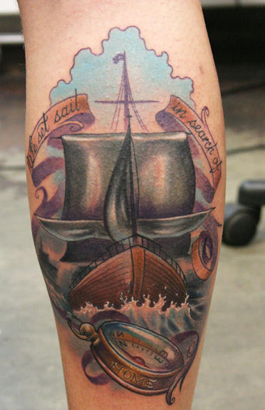 Tattoos. Tattoos Traditional American. Traditional Naval Ship