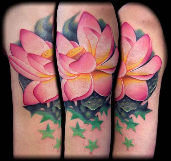 lotus lijnen tattoo